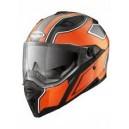 Casque moto intégral Caberg STUNT BLADE noir brillant/orange