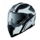 Casque moto intégral Caberg STUNT STEEZ blanc/noir
