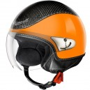 CASQUE CROMWELL TORNADO ORANGE METAL