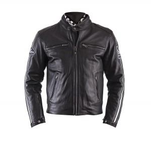 Blouson moto Helstons Ace cuir plain noir