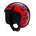 Casque moto Jet Caberg FREERIDE FLAME noir/rouge