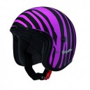 Casque moto Jet Caberg FREERIDE MARTY noir mat/rose