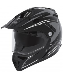 Casque cross Held Alcatar black & white