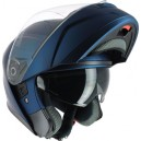 Casque moto modulable IOTA MP10 bleu mat