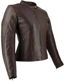 Blouson cuir SOUBIRAC Adele marron