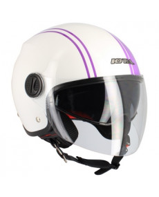 Casque jet IOTA DP10 Lines violet